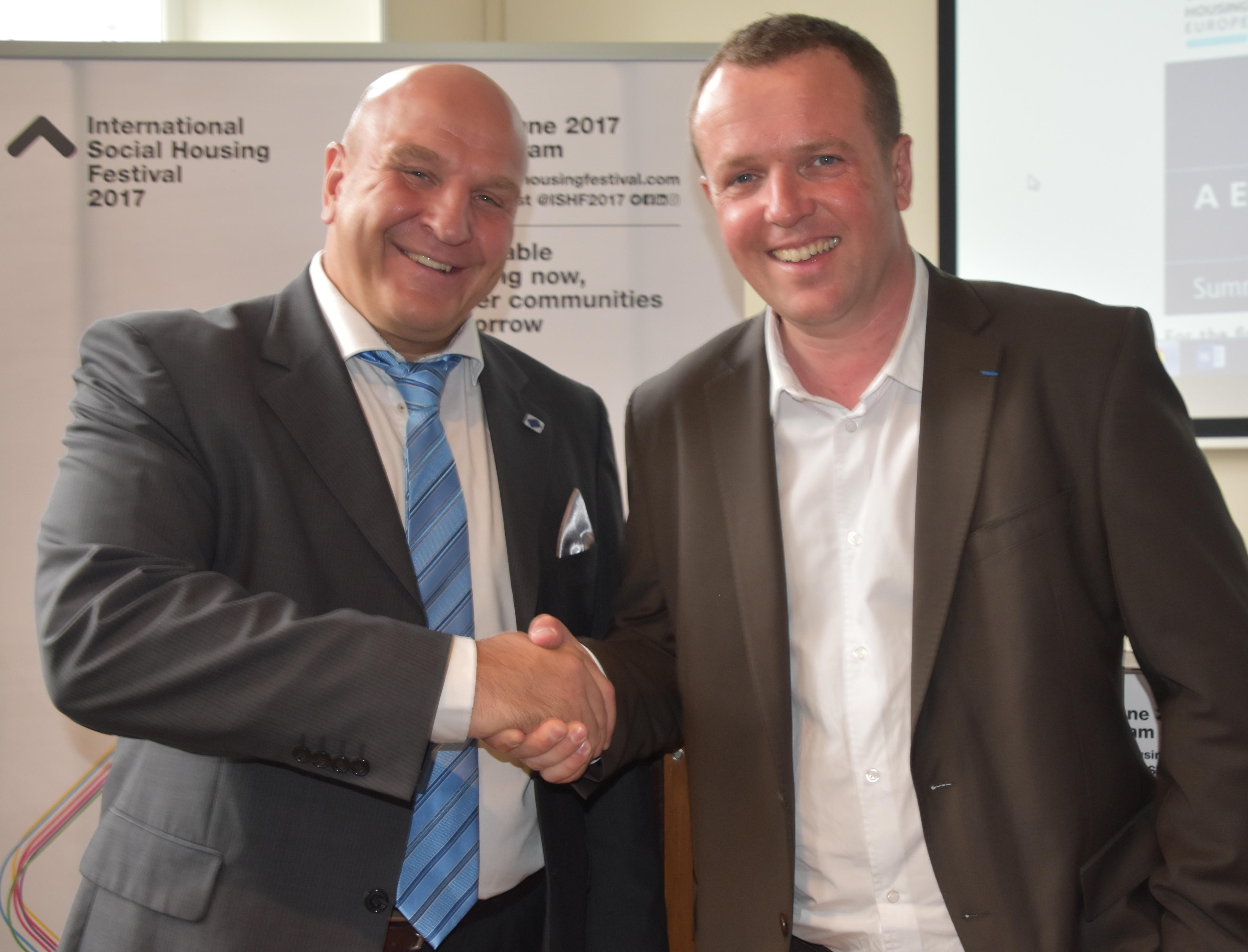 EKÜL juhatuse esimees Andres Jaadla ja HOUSIN EUROPE president