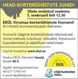 EKÜL Virumaa Foorum 5.02.19 Rakveres